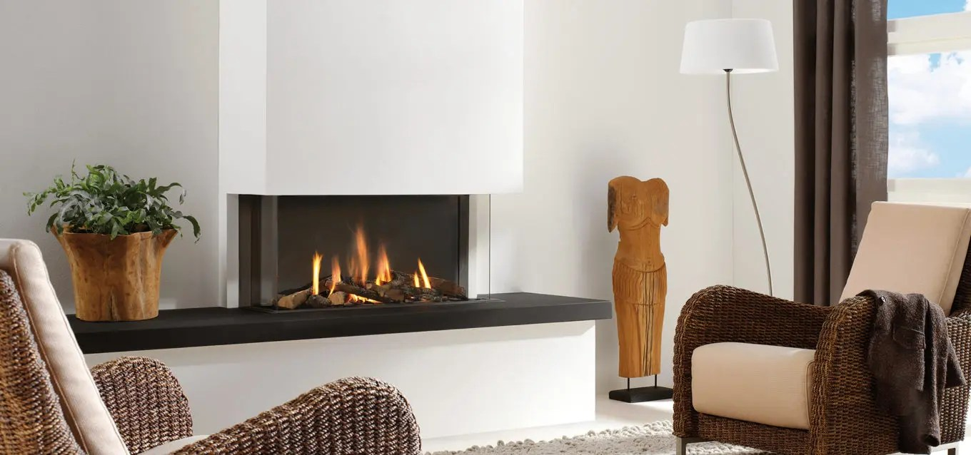 Gas Fireplace Faq Three Sided Gas Fireplace Trisore 95 By Element 4