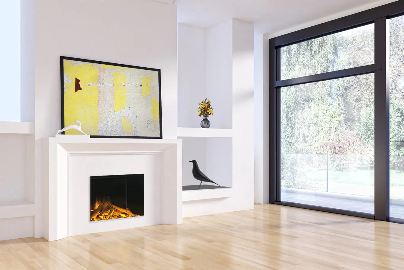 Design For Fireplace 8 Tips For Breaking Up A Large Wall With A Linear Fireplace