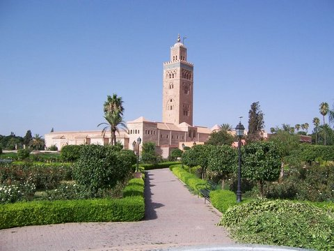 Marrakech Koutoubia Mosque From the Garden