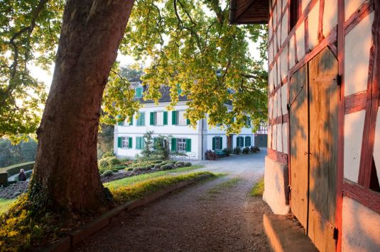Traditional Swiss architecture abounds, courtesy of Schlossgut Bachtobel Winery
