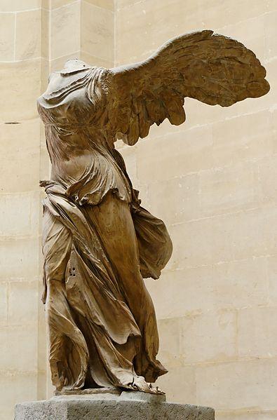 Nike of Samothrake on display in the Louvre