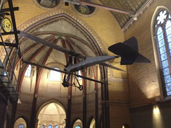 Musee des Arts et Metiers, 12th c. church with airplanes