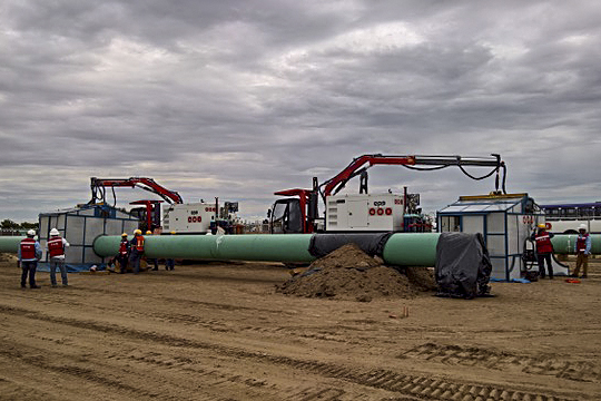 Euro Pipeline Equipment TP-15 at work in Mexico (July 2018)