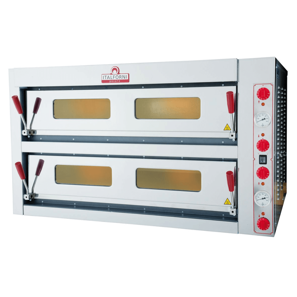 Pizzastand Oven Italforni Double Deck Electric Pizza Oven 6 6 Tkd2