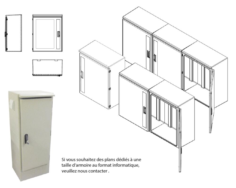 armoires coffrets polyester euro 1500 plan