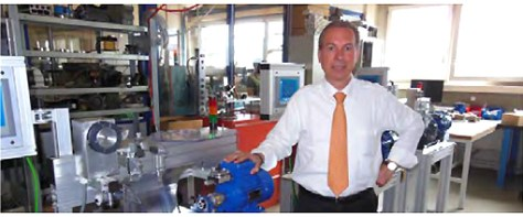 Mr. Durafourg in front a new line of machines being assembled. It is through such internal developments that Pierhor can offer high quality at attractive prices.