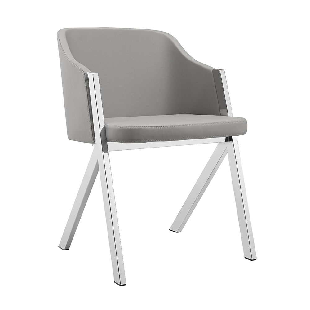 Modern Dining Chairs Acrostic Gray Arm Chair Eurway