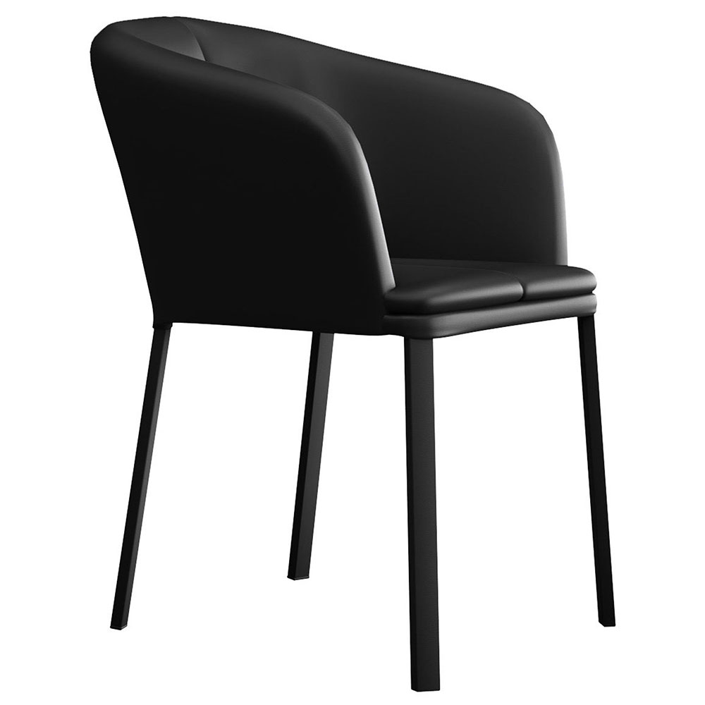 Como Black Eco Leather Modern Dining Chair By Modloft Eurway