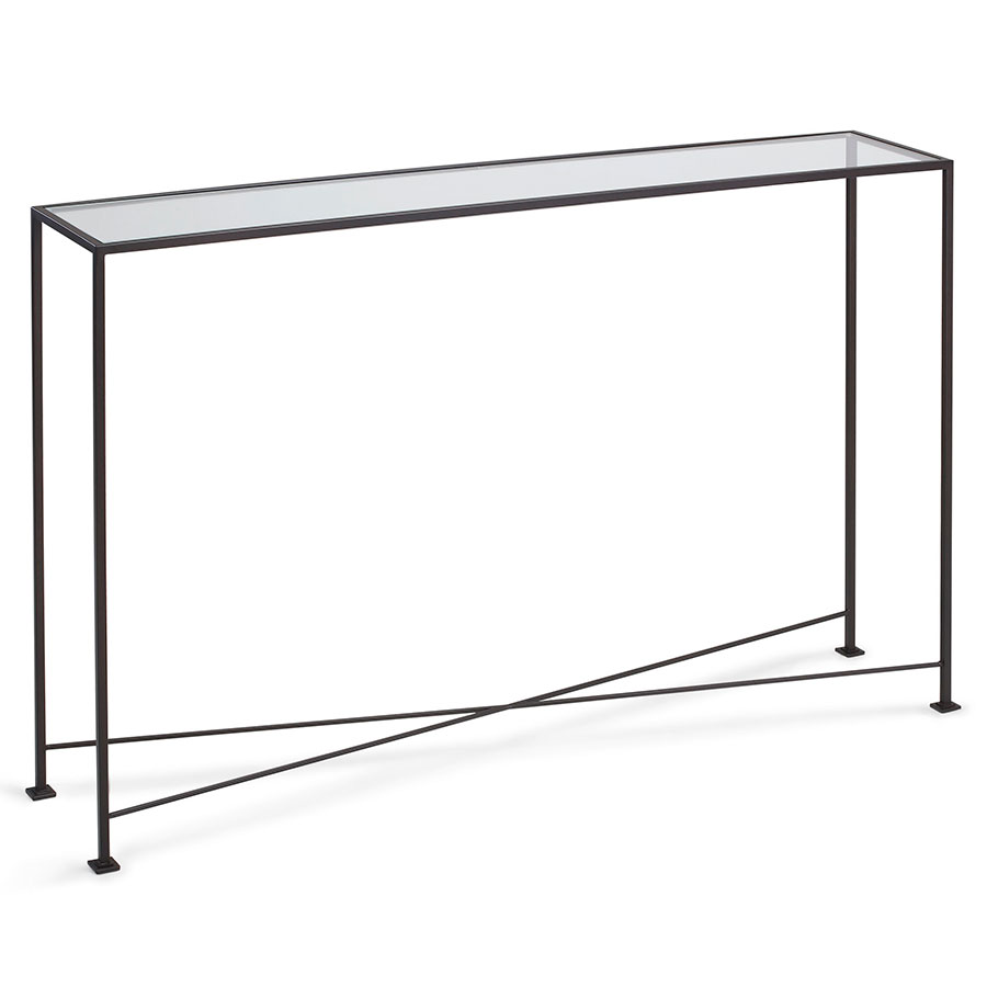 Glass Top Console Table David 48
