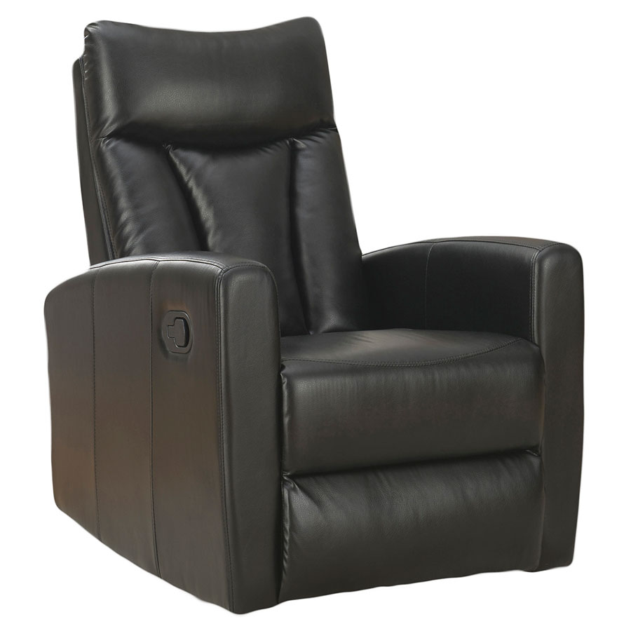 Chair Leather Reclining Swivel Derek Recliner Black