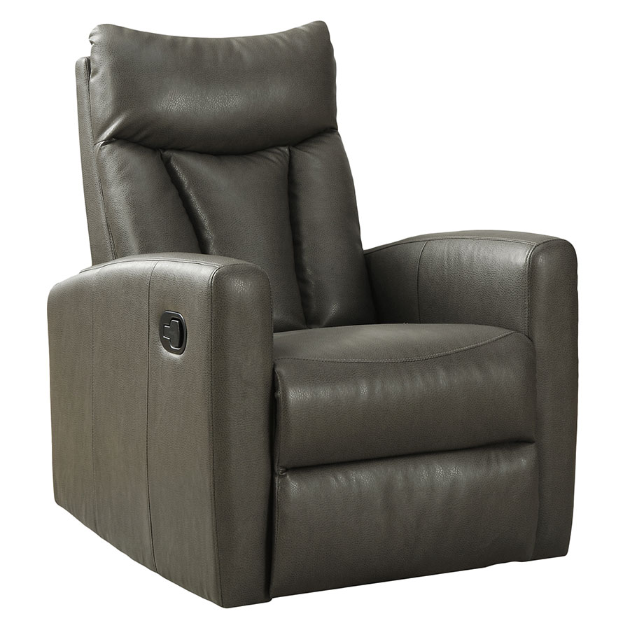 Chair Leather Reclining Swivel Derek Recliner Gray