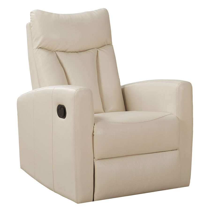 Chair Leather Reclining Swivel Derek Recliner Ivory