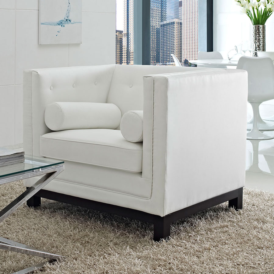 Modern Lounge Ibiza Lounge Chair White