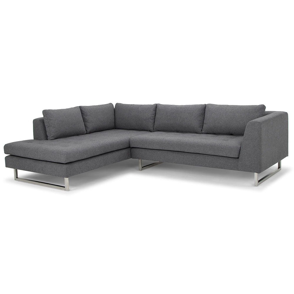 Janis Left Facing Shale Gray Sectional Sofa By Nuevo Eurway