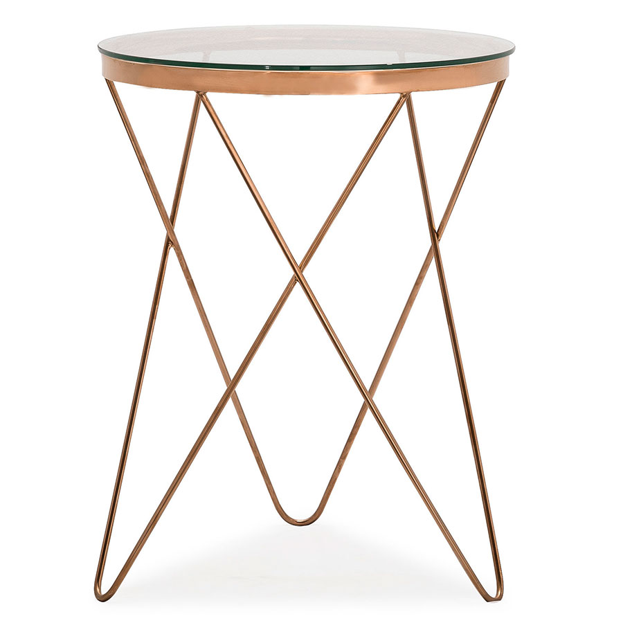 Metal Glass End Tables Masterson Side Table
