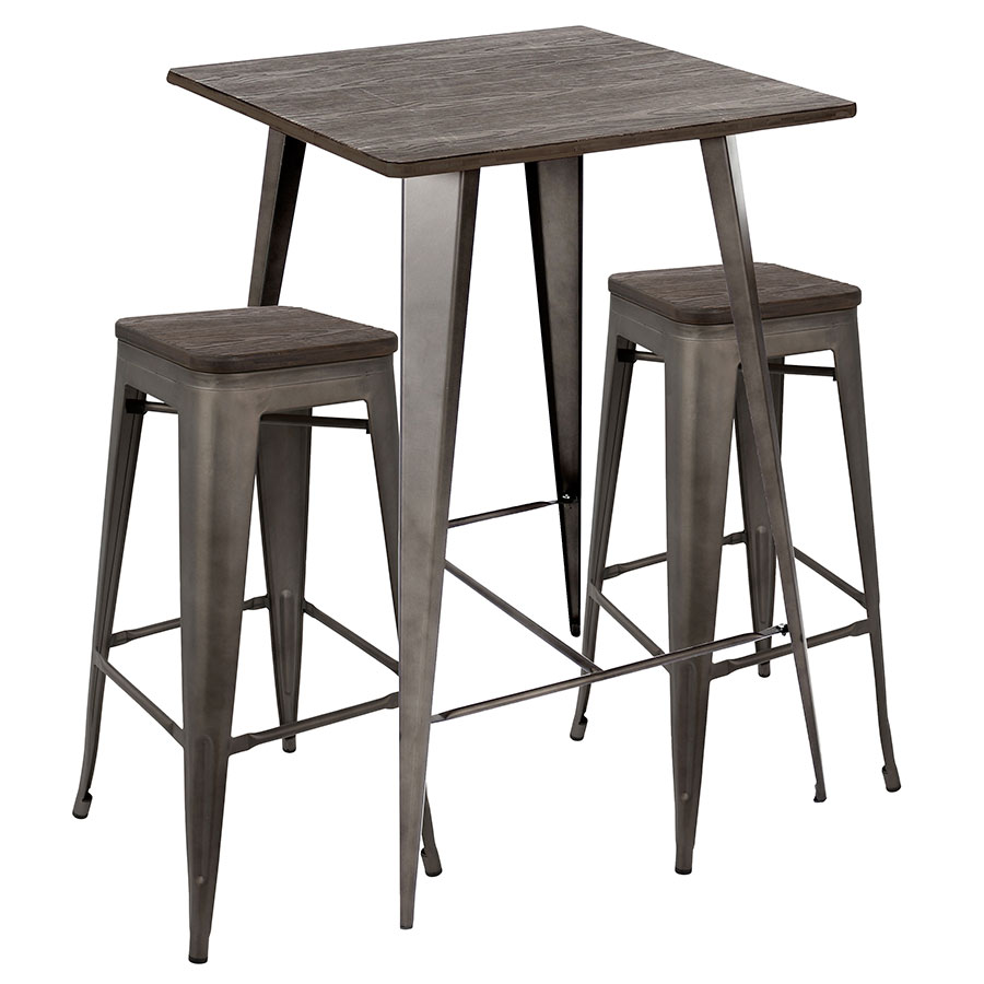 Table And Bar Stools Oakland Bar Set Antique