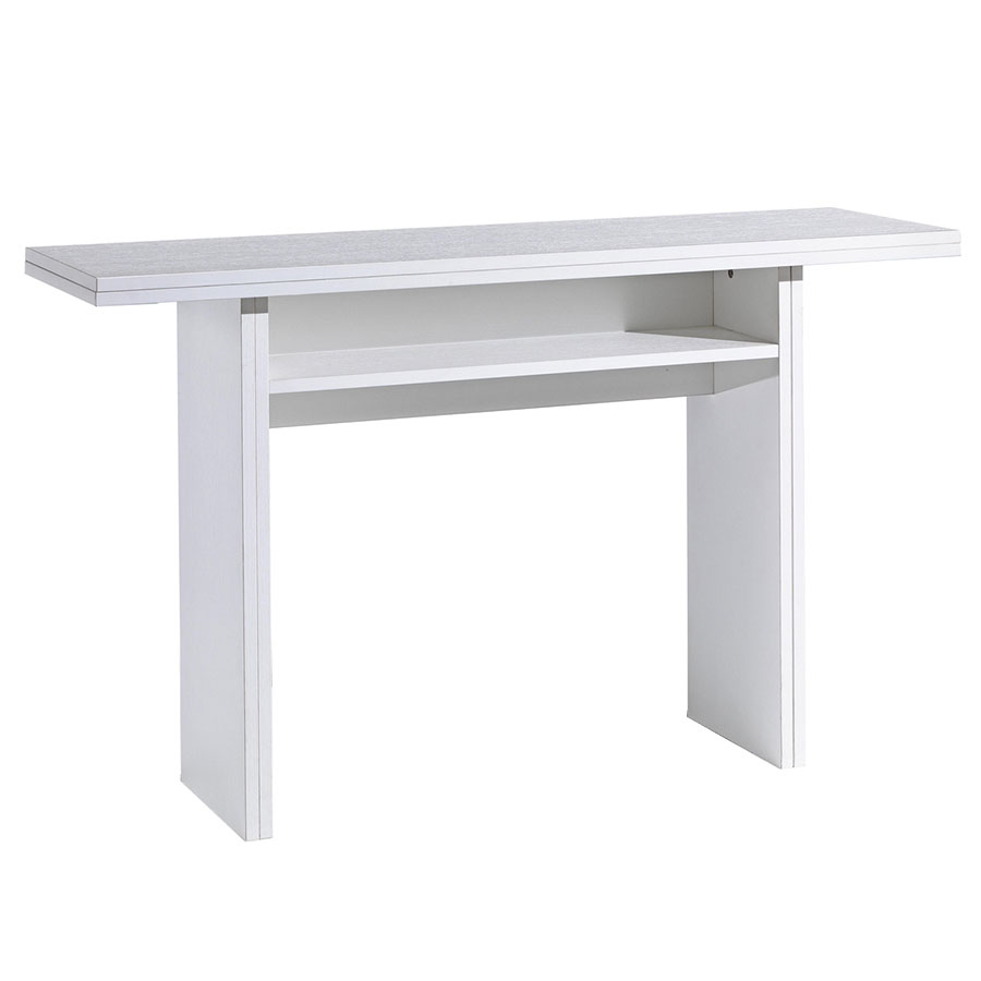 Console Convertible Table Rancor Convertible Console Dining Table White
