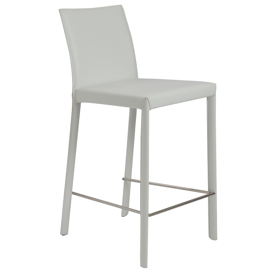 Modern White Counter Stools Chintaly Modern Swivel Counter Stool