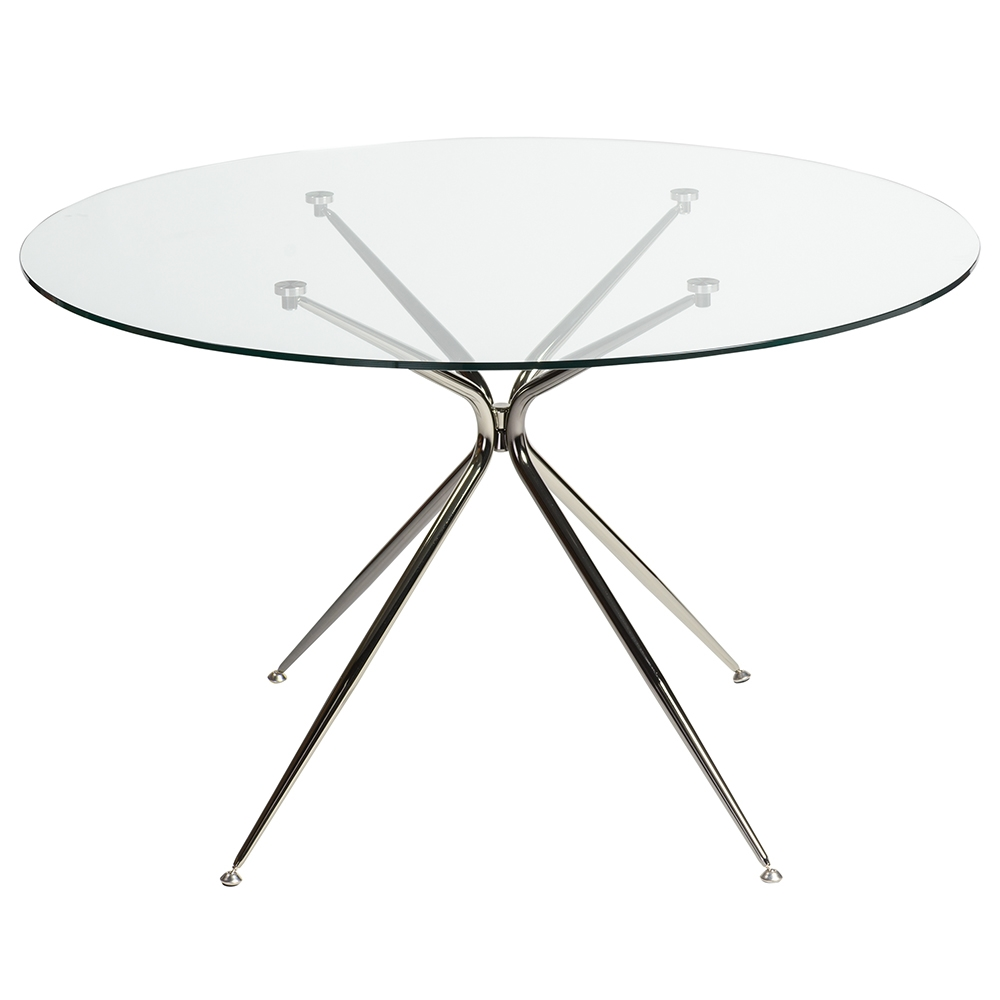 Modern Round Glass Dining Table Atos 48