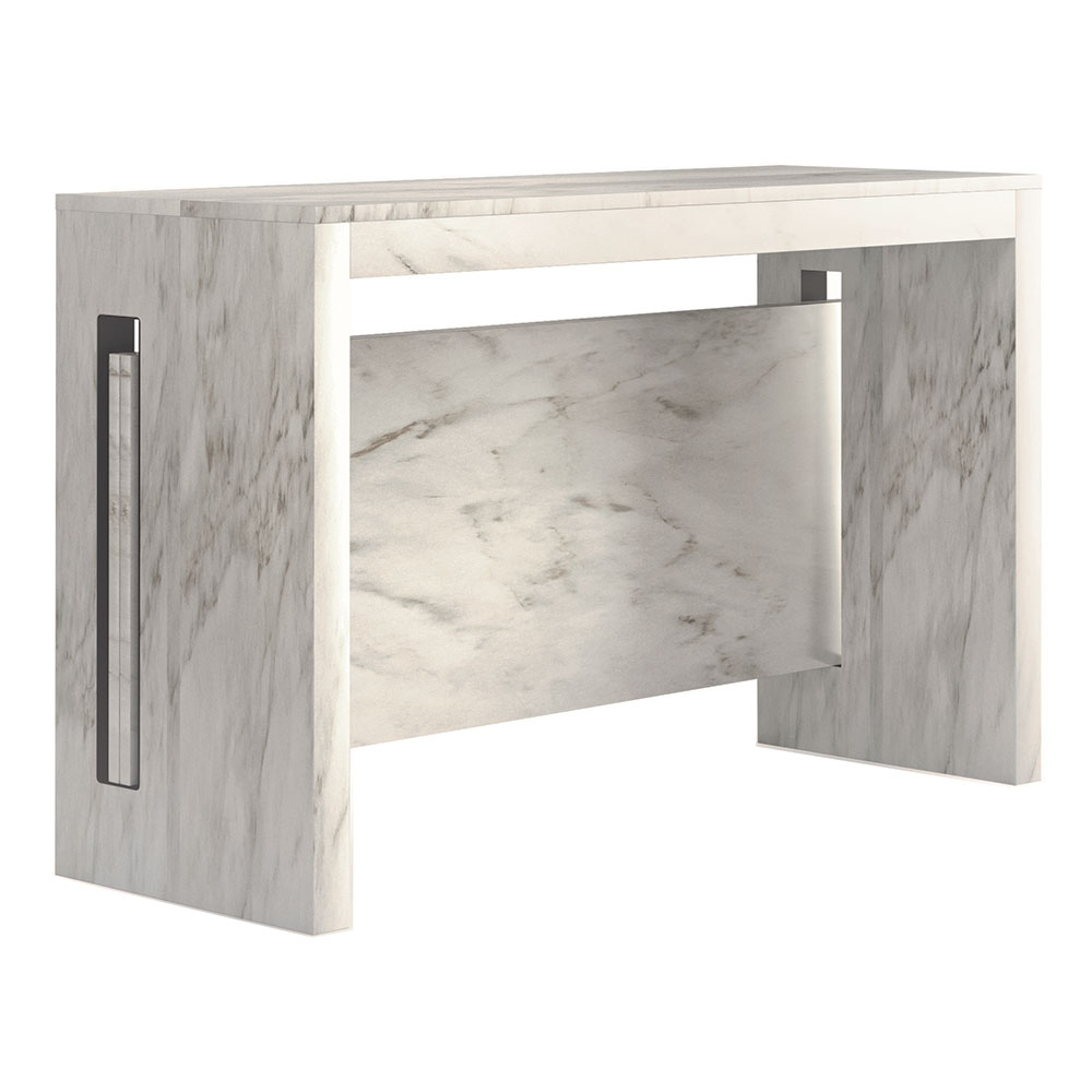 Console Convertible Table Errai Convertible Console Dining Table Faux Marble