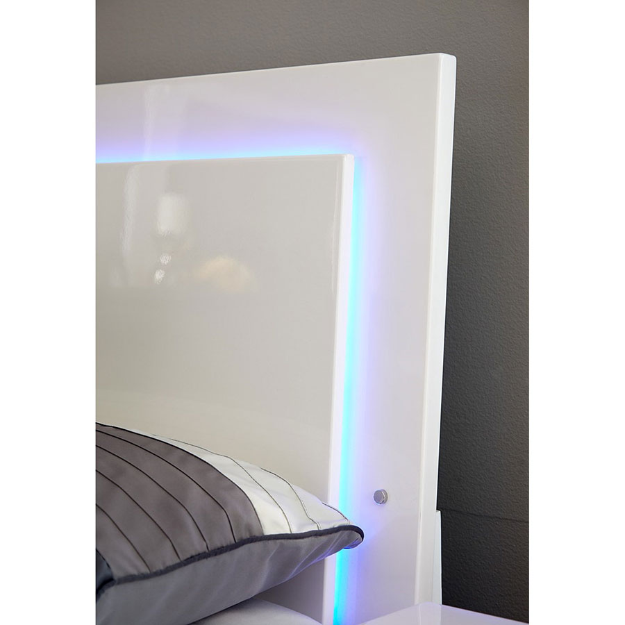 Ambient Lighting For Gaming Fredrika Lighted Headboard Modern Bedroom Set | Eurway