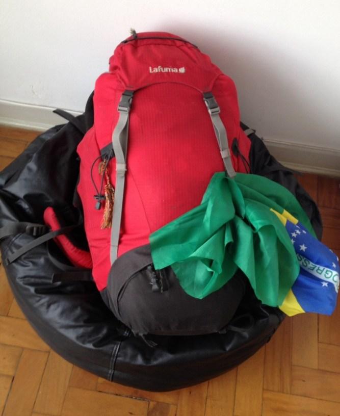 Quanto tempo demora para empacotar um mochilão