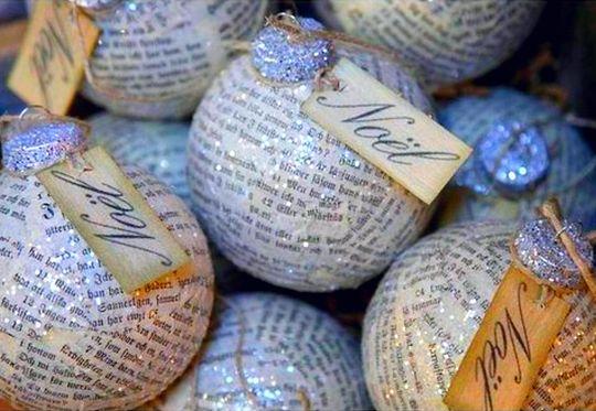 Trabalhos Manuais: Bolas de Natal originais (e recicladas)