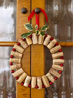 Trabalhos Manuais: Decorações de Natal com rolhas de cortiça