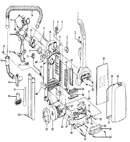 Hoover Tempo Upright Vacuum Cleaner Parts Diagram eVacuumStore