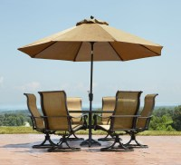 Garden Outdoor Patio Table Set with Umbrella