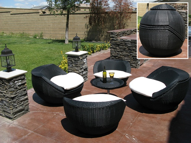 Salon De Jardin Encastrable 4 Places Small Patio Furniture | Eva Furniture