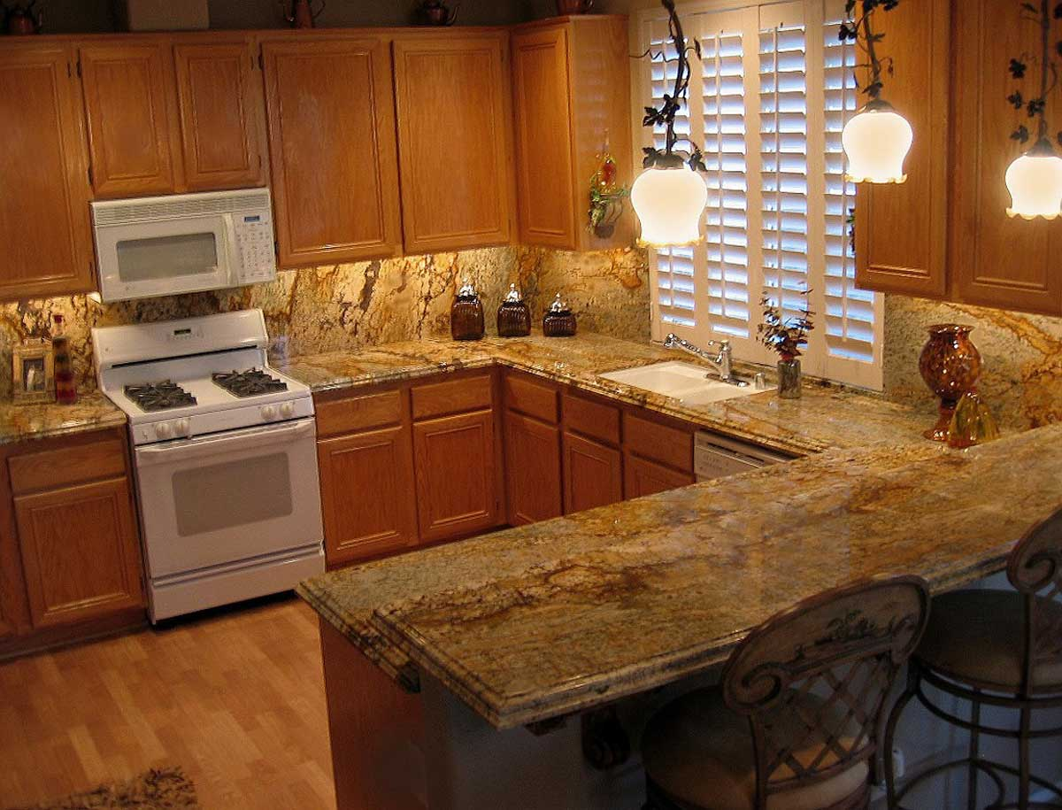 Images Of Granite Countertops In Kitchen Granite Kitchen Countertops Cost Installation And