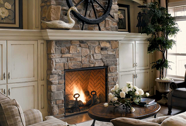 Natural Stone Fireplace Designs