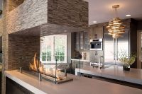 Kitchen Makeover with Remodeling Fireplace Ideas | EVA ...