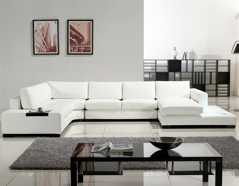 Trendy White Sectional Sofas Can Brighten Your Living Room EVA - white leather living room furniture
