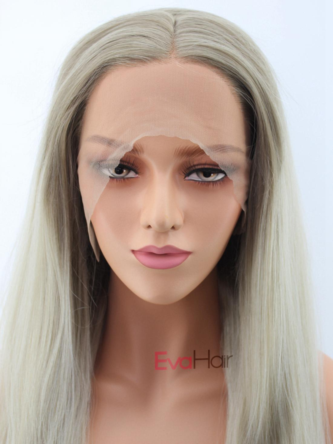 Bob Wig Frontal Long Natural Blonde Synthetic Lace Front Wig All