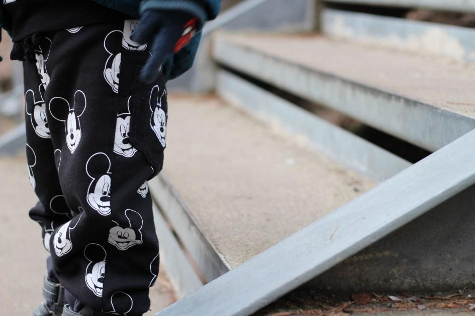 sewing mickey sweatpants