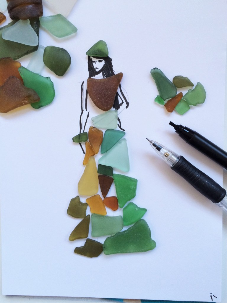 seaglass drawing