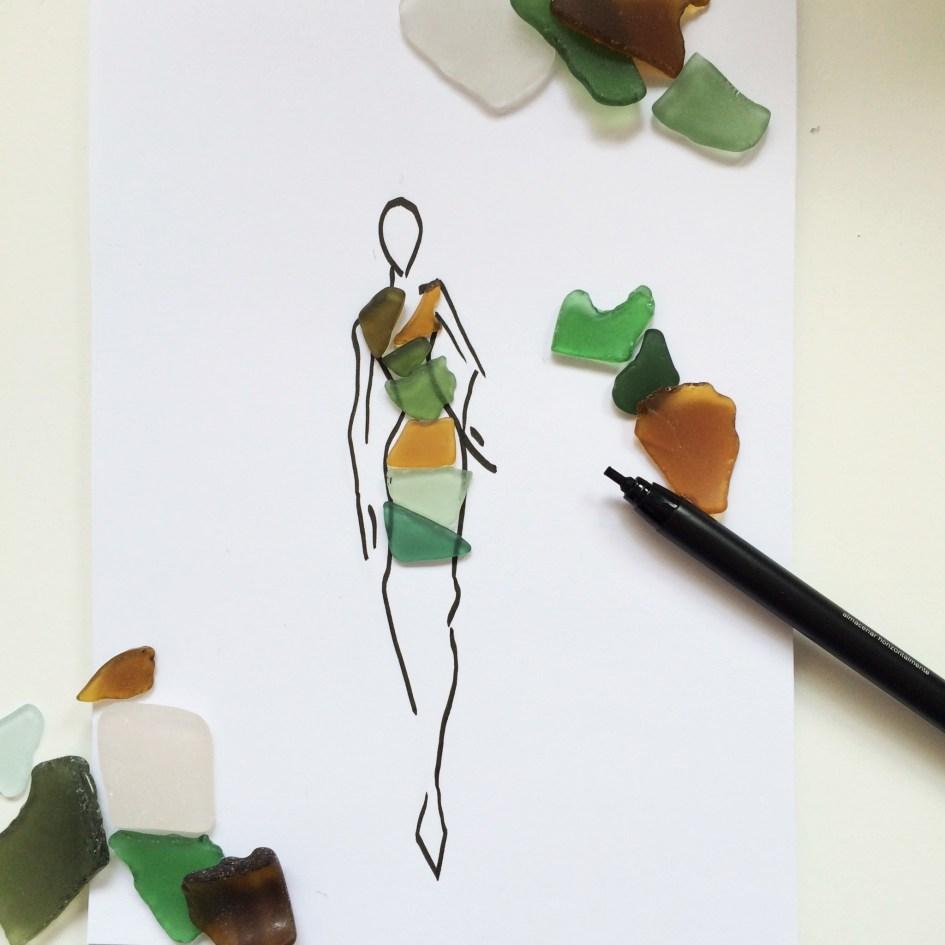 seaglass fashion illustration