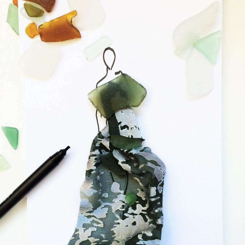 seaglass fashion devore illustration
