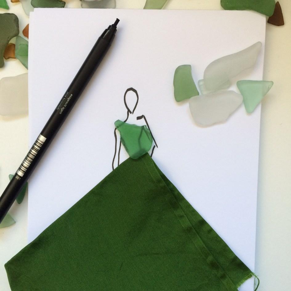 fashion illustration seaglass