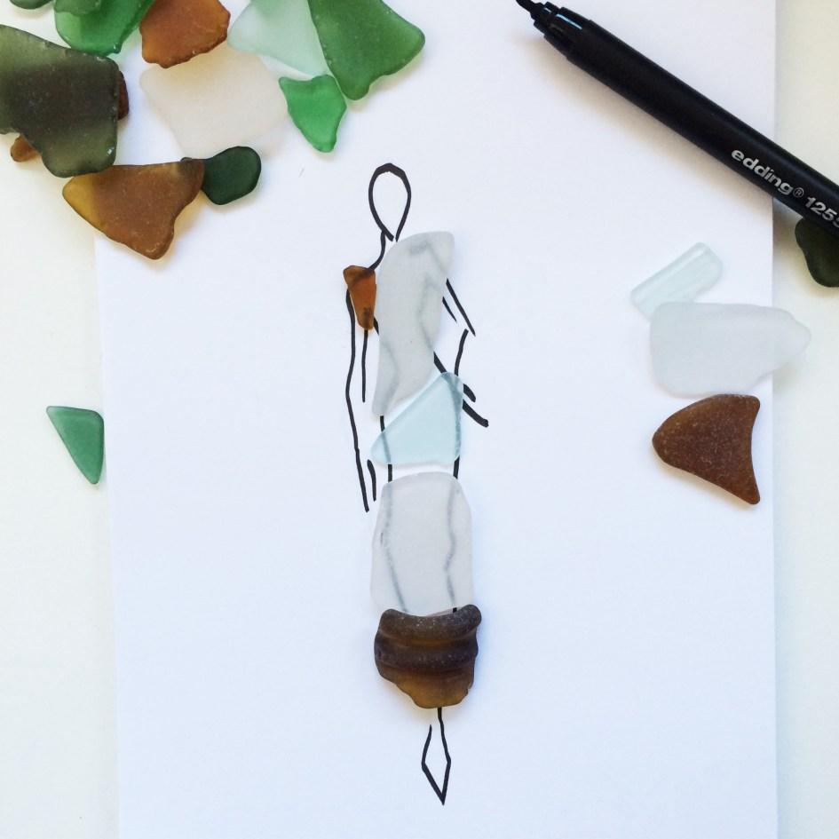 fashion illustration sea glass