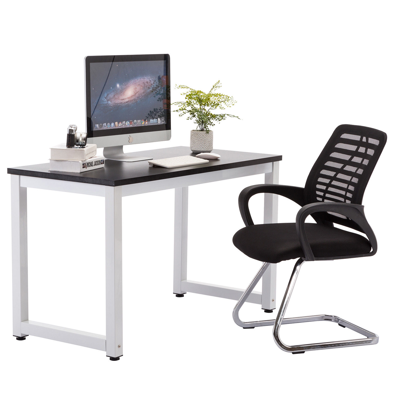 Workstation Furniture Details About Black Computer Desk Home Office Desk Work Table Pc Table Workstation Furniture