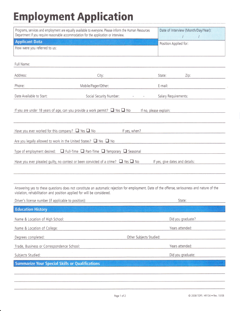 Forms Workillinoisgov Employment Application