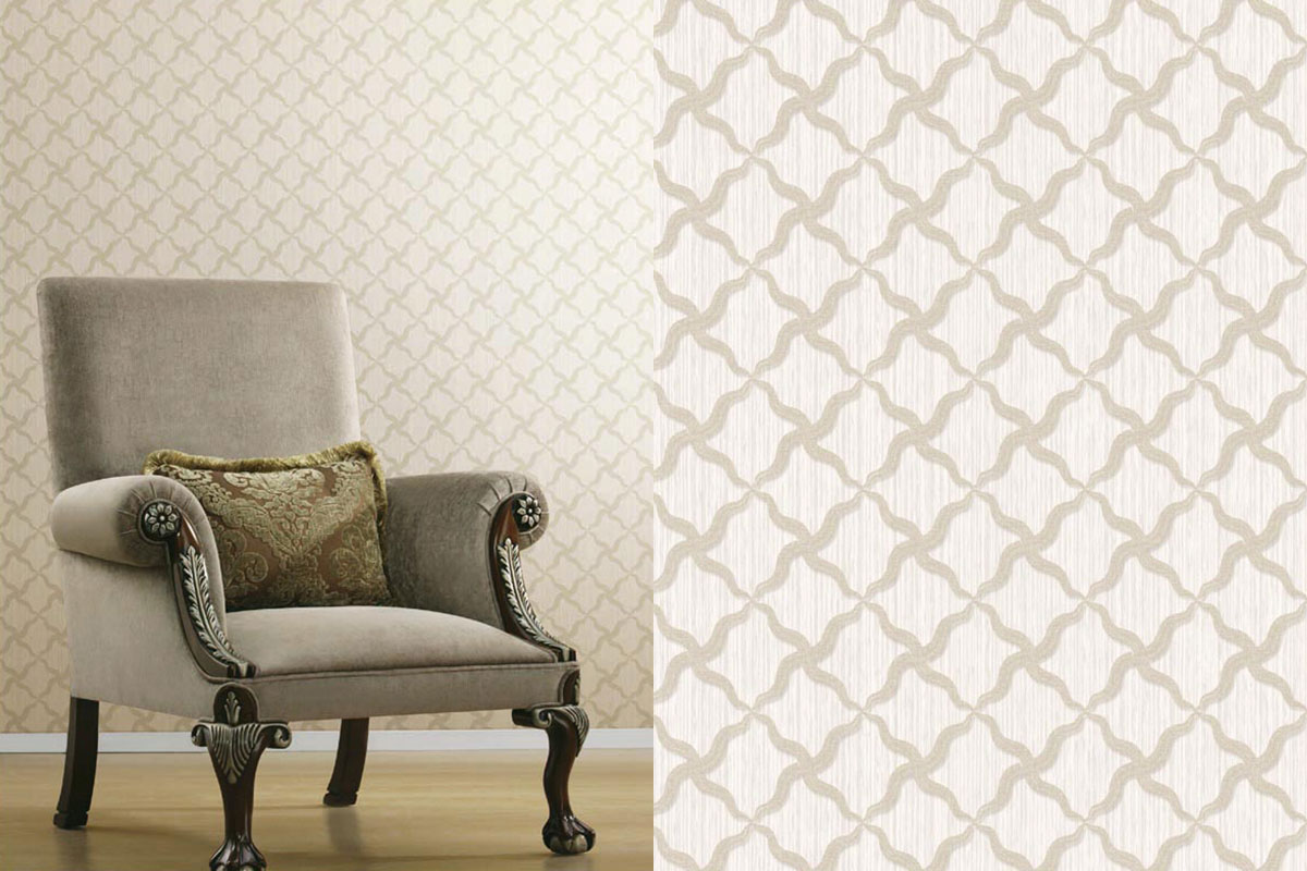 Alexi Ornate Criss Cross | Evans & Brown for Brewster Home Fashions