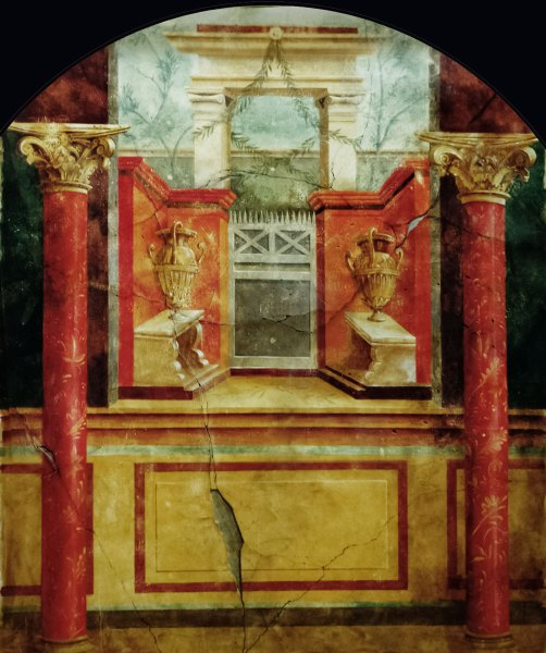 Pompeii-inspired vista