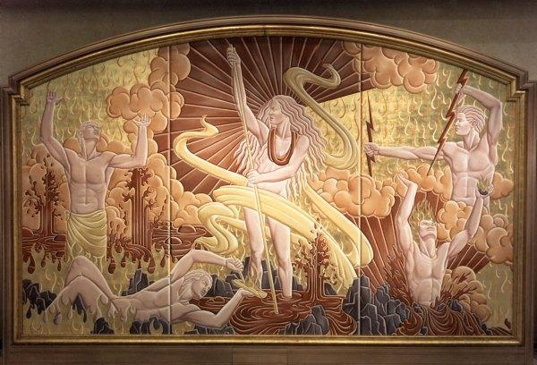 Grand Wailea Resort murals depict Hawaii's creation legends