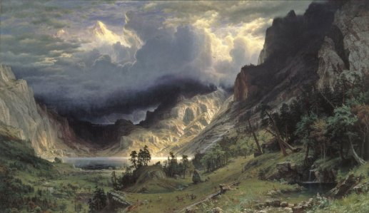 Bierstadt original | Evans & Brown mural art