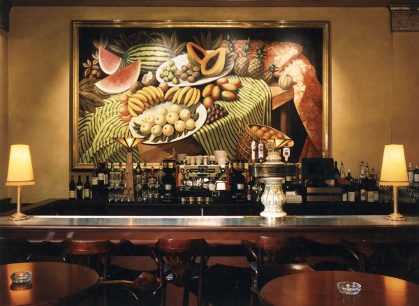 Mural above the main bar