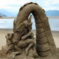 Sand Castle Dragon